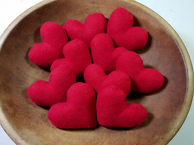 Red wool stuffed hearts Chistmas Valentine's Day bowl fillers