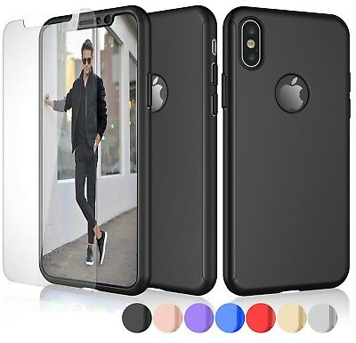 Case for iPhone 7 8 6 Plus XR XS Max Cover 360 Shockproof Hybrid Glass Protector
