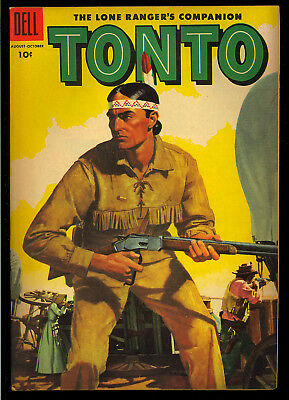 Lone Ranger's Tonto #20 Very Nice Golden Age Dell File Copy Comic 1955 VG+
