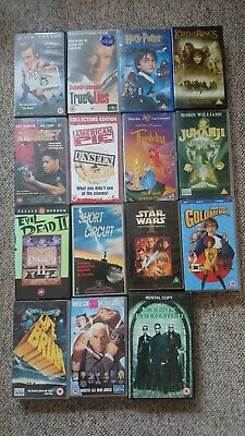 Job lot of 15 Various VHS Tapes in Great Condition