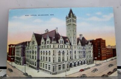 Wisconsin WI Milwaukee Post Office Postcard Old Vintage Card View Standard Post
