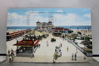 New Jersey NJ Atlantic City Million Dollar Pier Postcard Old Vintage Card View