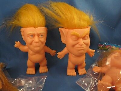 LOT OF 4 TRUMP TROLL HAIR DOLLS President 2020 Keep America Great Make $ reelect