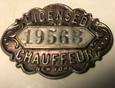 1907 New York Chauffeur badge
