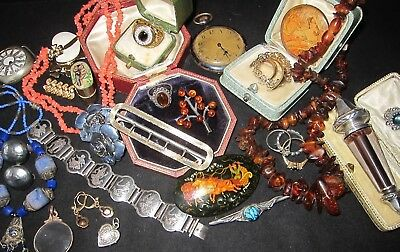 Antique & Vintage Jewellery Mixed Lot/27 Items