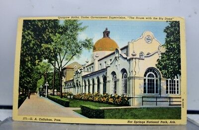 Arkansas AR Hot Springs National Park Quapaw Baths Postcard Old Vintage Card PC
