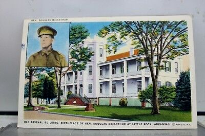 Arkansas AR Little Rock General Douglas MacArthur Birthplace Arsenal Postcard PC