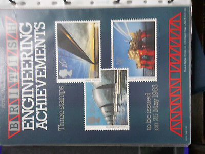 Royal Mail A4 Post Office Poster 1983 British Engineering Achievements Humber