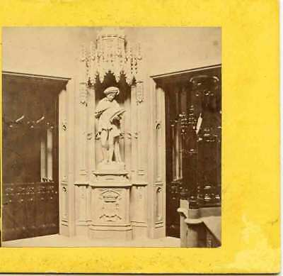 Statue Edward Vi St George Chapel Windsor Eng Stereoview Visit By A. S Weld 1871