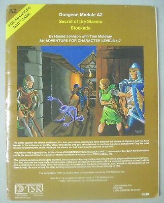Tsr Add Advanced Dungeons & Dragons 9040 A2 Secret Of The Slavers Stockade 1981