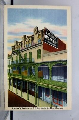 Louisiana LA Antoines Restaurant New Orleans Postcard Old Vintage Card View Post