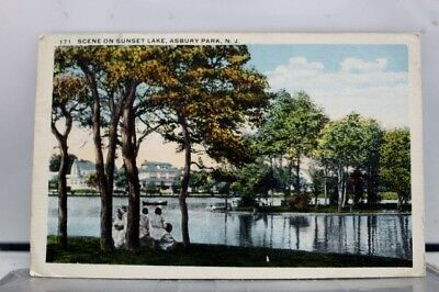 New Jersey NJ Sunset Lake Asbury Park Postcard Old Vintage Card View Standard PC