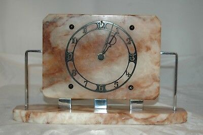 "Antique/vintage ""tempco"" Deco Marble Electric Mantle Clock,working."