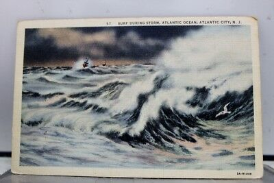 New Jersey NJ Surf Atlantic City Postcard Old Vintage Card View Standard Post PC