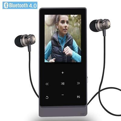 Newiy Start MP3 Player with Bluetooth,8GB Hi-Fi Lossless Sound Touch Buttons BLK