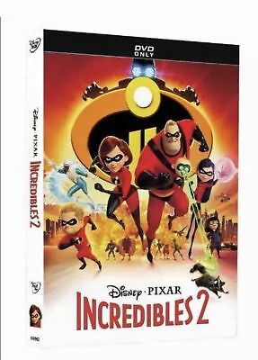 Disney pixar INCREDIBLES 2  BRAND NEW DVD FACTORY SEALED FREE FAST SHIPPING