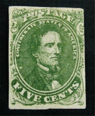 nystamps US CSA Confederate Stamp # 1c Mint OG H $425