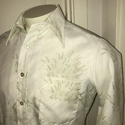 Vtg 60s 70s Career Club Disco Dacron POLYESTER Union Made Dress Shirt Mens 15.5