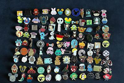 Disney Trading Pin Lot of 25 Lapel Collector Pins - No Doubles by Disney