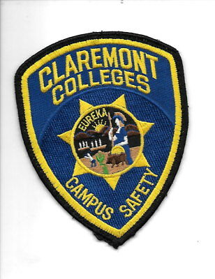 Claremont Colleges Campus Safety, California police patch