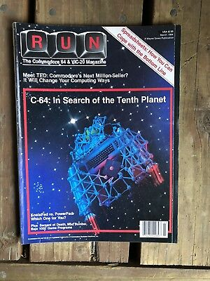 1984 Vintage Computer Magazine RUN Commodore 64 Vic 20 C64 TED 264 Programming