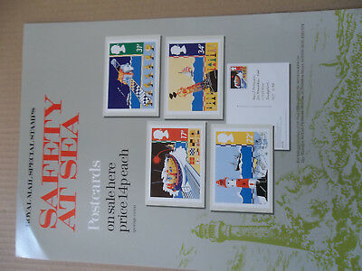 Royal Mail A3 Post Office Poster 1985 Safety At Sea Lighthouse Phq Postcards