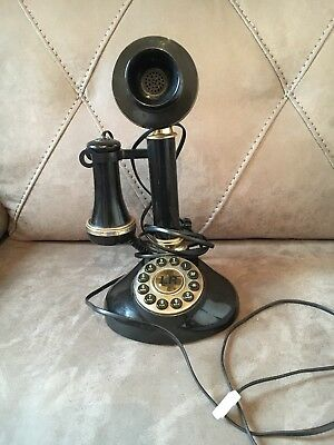 Vintage Style Betacom Speakeasy Black Candlestick Telephone Fully Working 1980s