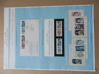 ROYAL MAIL A3 POST OFFICE POSTER 1986 60th BIRTHDAY QUEEN ELIZABETH FDC POSTCARD