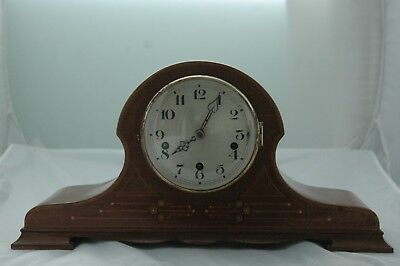 Antique/vintage Inlaid Mahogany Westminster Chimes Mantle Clock.