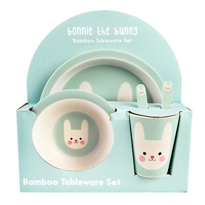Cute Bunny Tableware Set - Dinner - Lunch - Children - Kids - Plate - Bowl - Cup