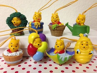 Disney Winnie the Pooh Figure Peek-A-Pooh #16 Set Of 8 Arce Wood Edition Charm