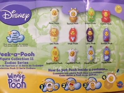 Disney Winnie the Pooh Figure Peek-A-Pooh mixed of 40-pc Zodiac set #11 New