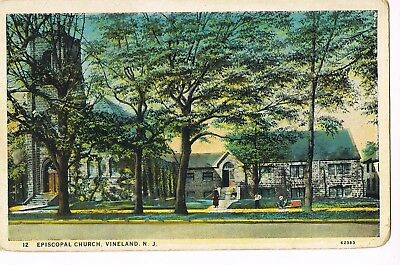 PRE-LINEN Postcard     EPISCOPAL CHURCH   - VINELAND, NJ