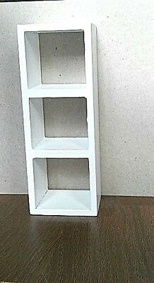Dolls House Furniture : Versatile White Wooden Shelving Unit  : in 12th scale