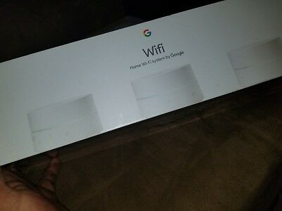 Google Wifi AC1200 Dual-Band Whole Home Wi-Fi System (3-Pack) - White -BRAND NEW