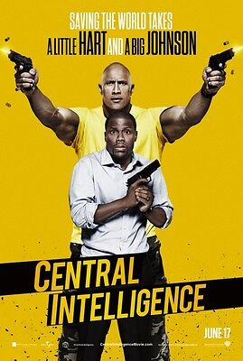 Central Intelligence - original DS movie poster - 27x40 D/S Advance Kevin Hart