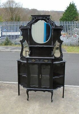 Victorian Ebonised Chiffonier / Spider Cabinet    Delivery Available