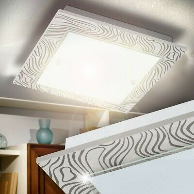 Lampe Led Plafond 24 Watt Blanc Chaud 3000K Éclairage De Salon Verre Grand