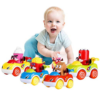 LUKAT Cars Toys for 1 2 3 Year Old Boys and Girls, Push and Go Friction Powered