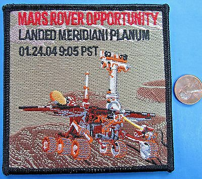 NASA PATCH vtg MARS Rover Opportunity Landed MERIDIANI PLANUM 01.24.04 - 4""