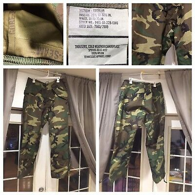 Woodland Camo,ecwcs Goretex Pants, Medium-Reg, Tennessee Apparel