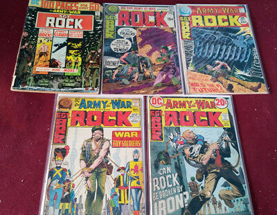 Our Army At War Sgt. Rock Lot of 5 Issues #269 Fair, 230,240,243,253 Very Good