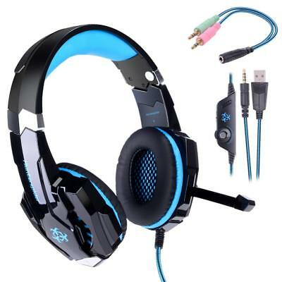 HUNTERSPIDER Micro Casque Gaming PS4, Audio Stéréo Gamer, Basse, Anti-Bruit,...