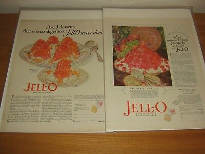 Vintage Advertisement 1927 Jell-O Lot Of 2