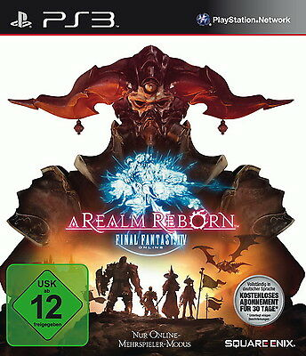 Final Fantasy XIV: A Realm Reborn (Sony PlayStation 3, 2013, DVD-Box)