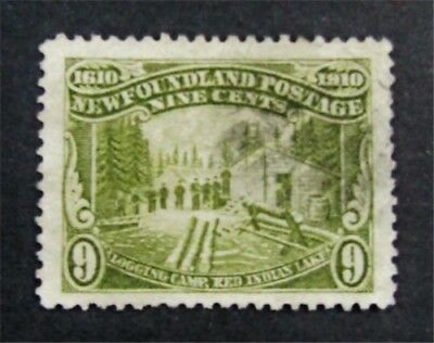 nystamps Canada Newfoundland Stamp # 100 Used $58