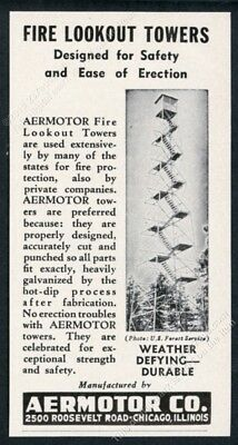 1953 fire ranger lookout tower photo Aermotor vintage trade print ad