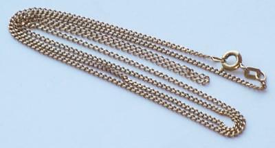 Superb Fine Quality Well Made Strong 23 Inches Long Slender Flat Curb Gold Chain