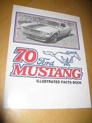 Vintage 70 Ford Mustang Illustrated Fact Book Boss 302 Mach I 429 Boss 428 CJ