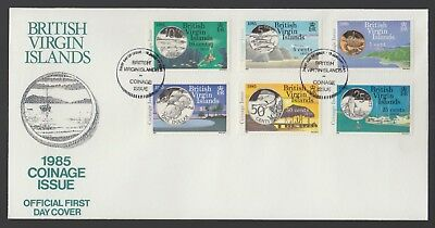 British Virgin Islands 1985 FDC New Coinage Issue - Set Of 6